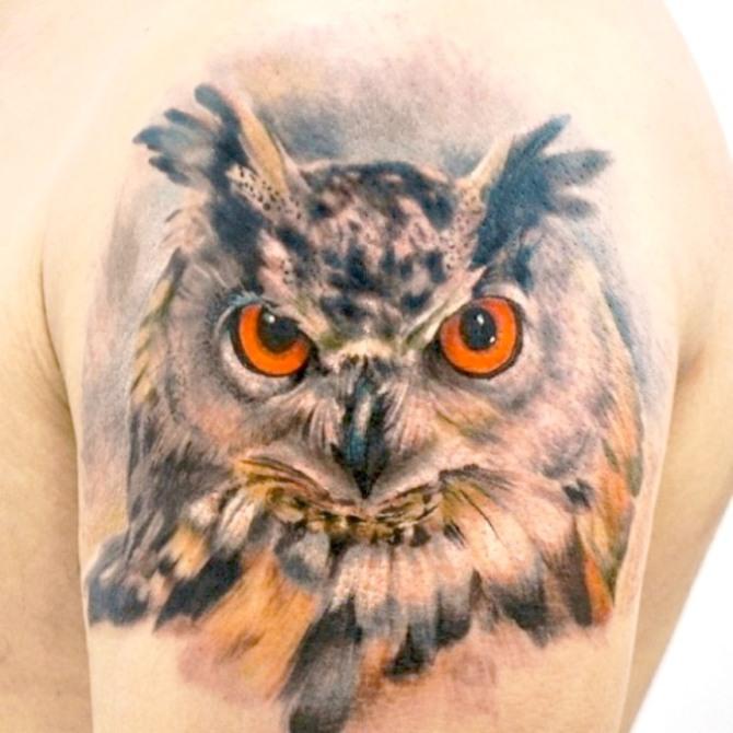 Realistic Owl Tattoo Designs - Owl Tattoos <3 <3
