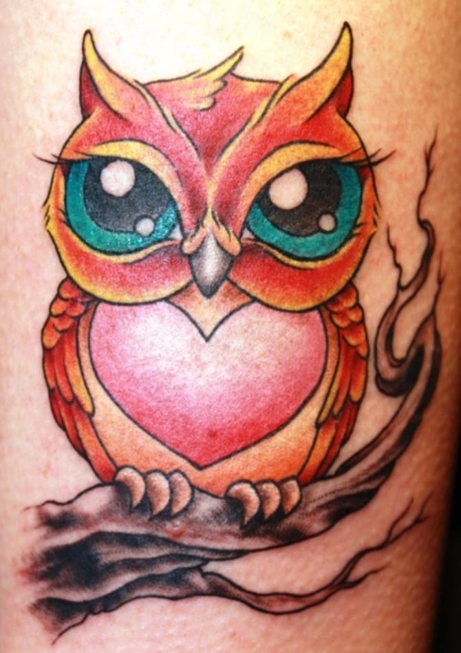 Cartoon Owl Tattoo Designs - Owl Tattoos <3 <3