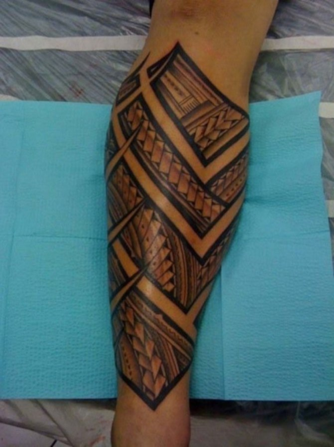 Leg Tattoo - Maori Tattoos <3 <3