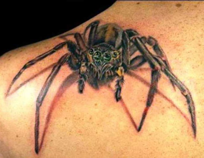 Spider Tattoo on Shoulder - Spider Tattoos <3 <3