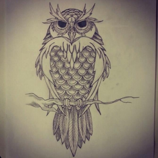 Owl Tattoo Drawing - Owl Tattoos <3 <3