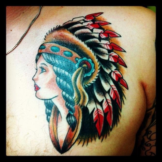 Native American Girl Tattoo - Native American Tattoos <3 <3