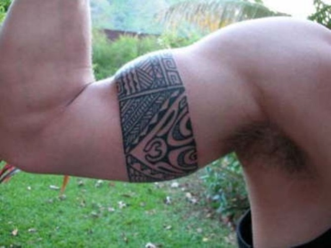 Ornaments Tattoo on Arm - 30 Best Armband Tattoos <3 <3