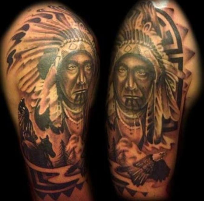 native american tattoos tattoofanblog. Black Bedroom Furniture Sets. Home Design Ideas