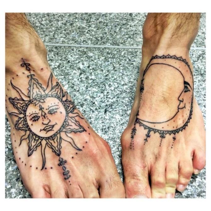Sun and Moon Tattoo - 20+ Moon Tattoos <3 <3