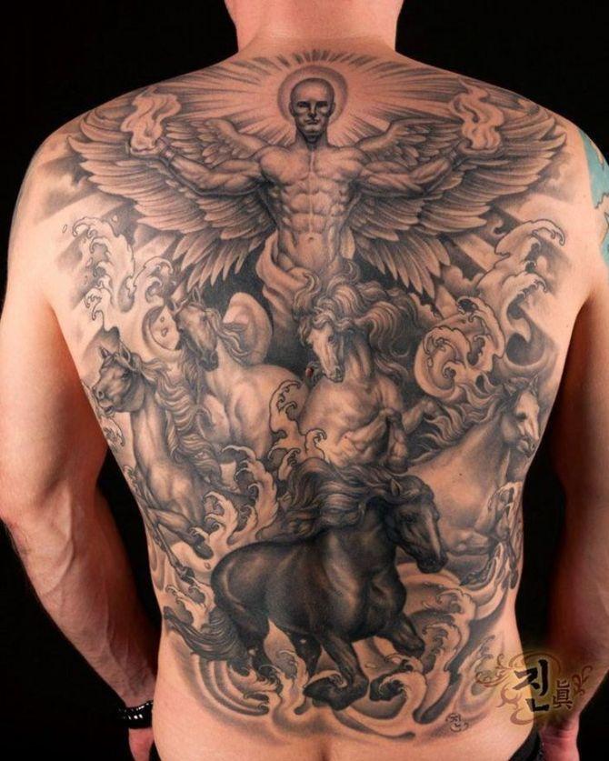 20 angel tattoos tattoofanblog. Black Bedroom Furniture Sets. Home Design Ideas