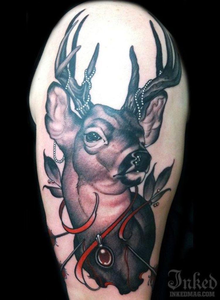 0f5c4289d2c31 30 Deer Tattoos | Tattoofanblog